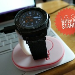 Free STL file LG G Watch R Stand, Chaco