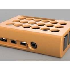 Download free STL Raspberry Pi 4 Case, Chaco