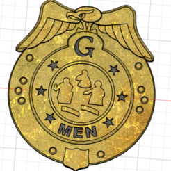 Download 3D printing models G Men Badge, Chaco