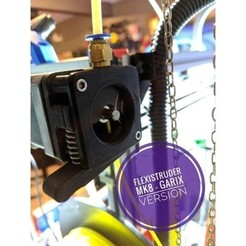 Download free 3D printer designs FlexiStruder - GARIX version for mk8 drive gear, Chaco
