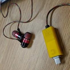Imprimir en 3D gratis Z:ero Auriculares digitales UCB C Adaptador Brace, Chaco