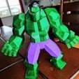 Download STL file Low Poly Hulk v2 • Template to 3D print, Chaco