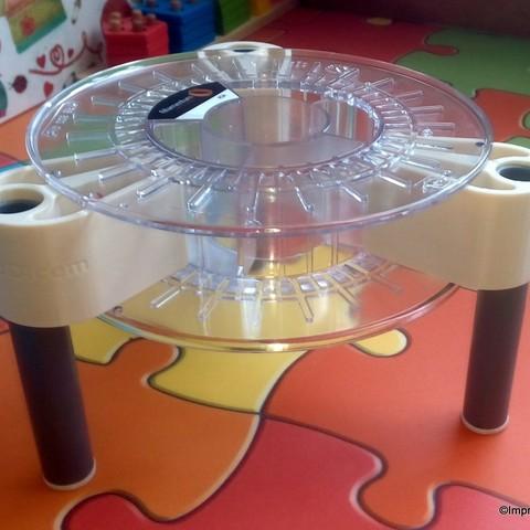 Free 3d printer designs Stool made with an empty spool, Imprenta3D