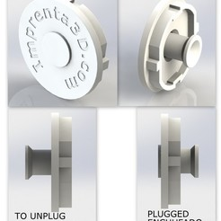 Free 3D printer file Plug Cover with hidden handle - Plug cap with concealed handle, Imprenta3D