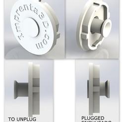 Descargar archivos STL gratis Plug Cover with hidden handle - Tapa de enchufe con tirador oculto, Imprenta3D