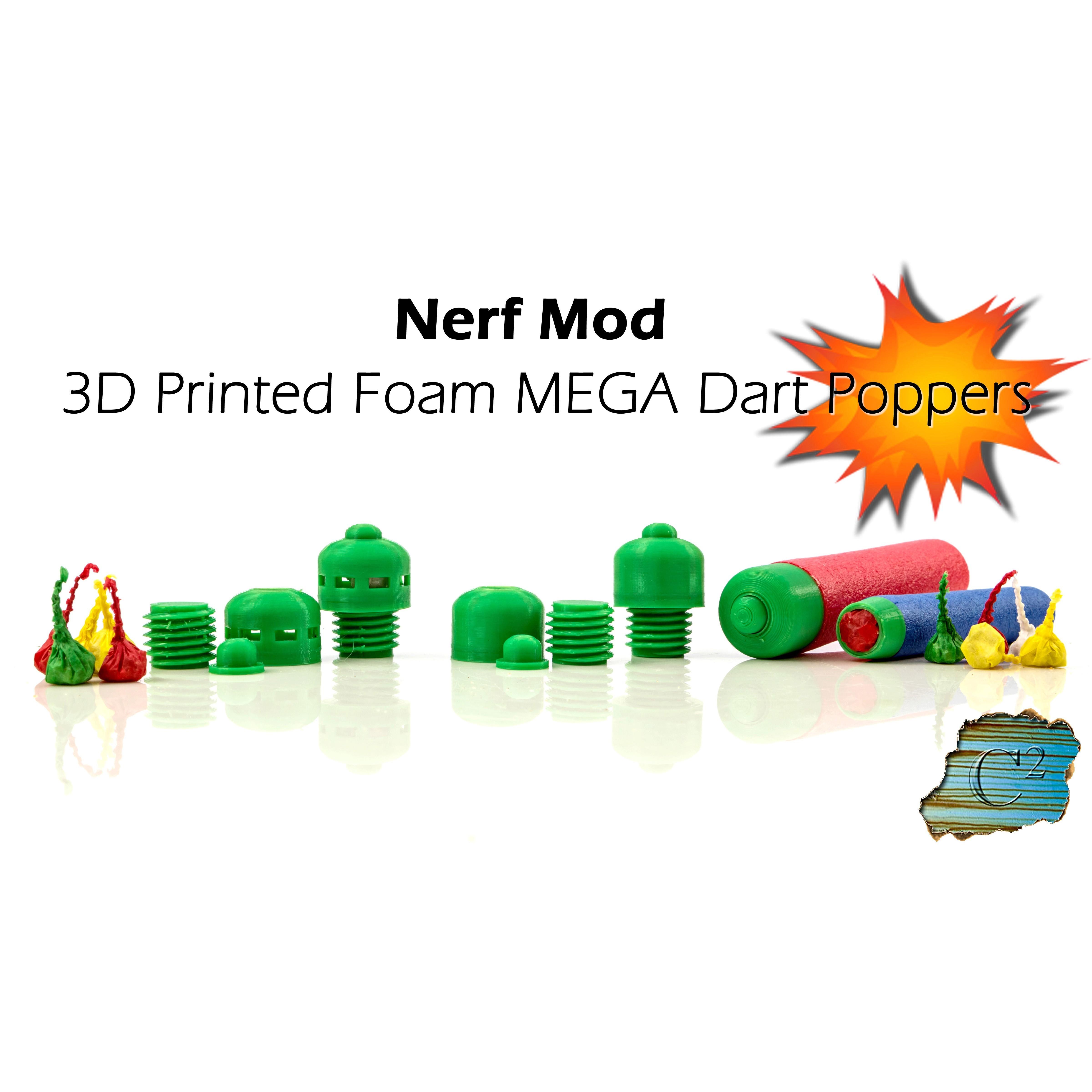 cult.jpg Download free STL file Nerf MEGA Explosive Tips - Party Snap Foam Dart Tips • 3D printable template, dacinator