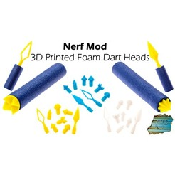 Impresiones 3D gratis Nerf / Foam Dart:  Alternative Tips of Doom, dacinator