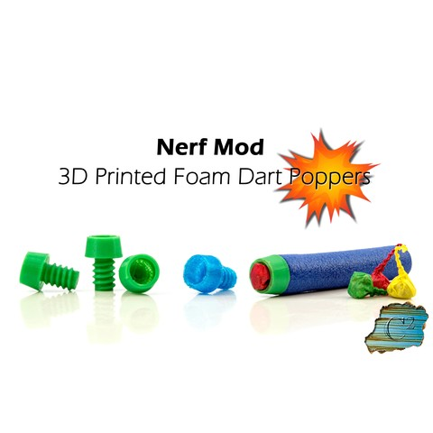 Download free STL file Nerf Explosive Tips - Party Snap Foam Dart Tips • Object to 3D print, dacinator