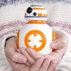 Download free 3D printing models Star Wars The Force Awakens - BB-8 Ball Droid, lusci
