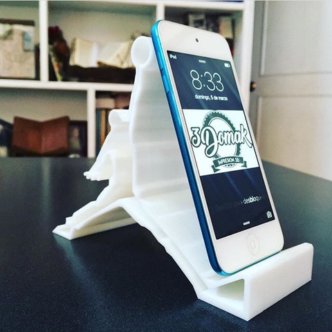 Download STL file Cell Phone Iphone Stand  • 3D print object, 3domak