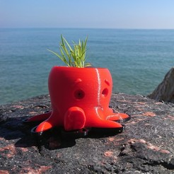 Free STL files Octopus Planter, Gregorio_W