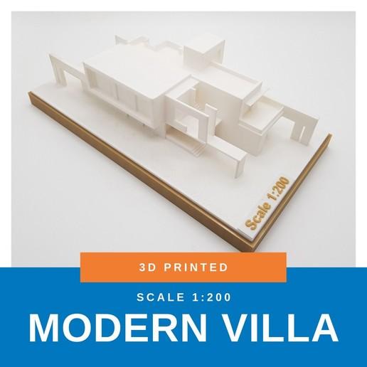 Download STL file Modern Villa • Design to 3D print, ARCH-GRAPHIC