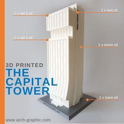 Download 3D printer model The Capital Tower, ARCH-GRAPHIC