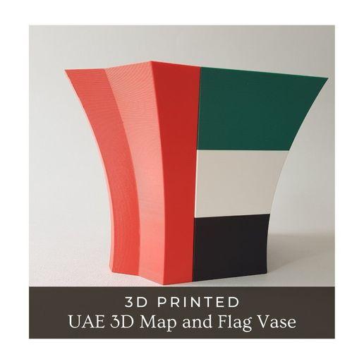 UAE 3D Map and Flag Vase 03.jpg Download STL file UAE 3D Map and Flag Vase • 3D printable design, ARCH-GRAPHIC