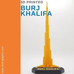 Download STL file Burj Khalifa -  3D BUILDING MODEL • 3D printer design, ARCH-GRAPHIC