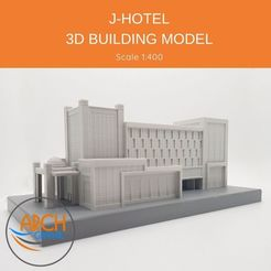 Download STL file J-HOTEL - 3D BUILDING MODEL • 3D print template, ARCH-GRAPHIC