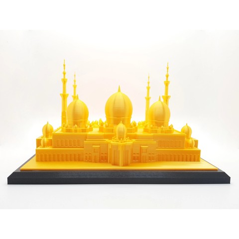 Download 3D printer model Sheikh Zayed Mosque - HD, ARCH-GRAPHIC