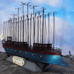 Download free 3D printer designs the albatross - Jules verne - book robur the conqueror, titi01
