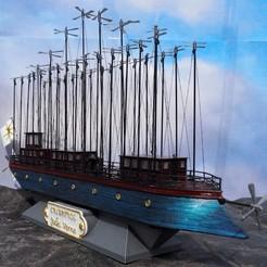 Descargar archivo 3D gratis el albatros - Julio verne - libro robur el conquistador, titi01