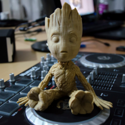 Download free 3D printing designs Baby Groot, Byambaa