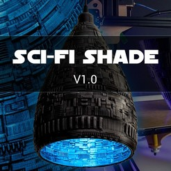 STL Sci-Fi Lamp Shade, BlenderKoch