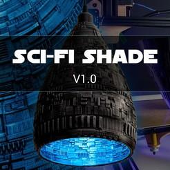 Fichier STL Abat-jour Sci-Fi, BlenderKoch
