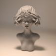 Archivos STL gratis Escultura de la mirada, HuangAro