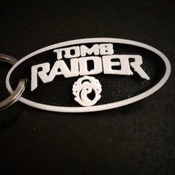 Free 3D printer model Tomb Raider Keyring, Adonfff