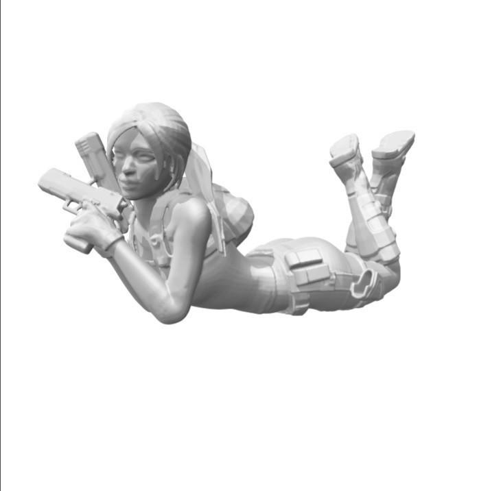 laral.jpg Download free STL file Lara Croft sur le ventre • 3D printing object, Adonfff