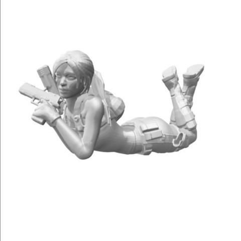 Télécharger plan imprimante 3D gatuit Lara Croft on the belly, Adonfff