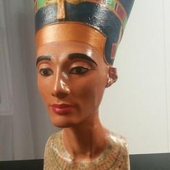 Download free STL files Nefertiti Bust [Hollow], Adonfff