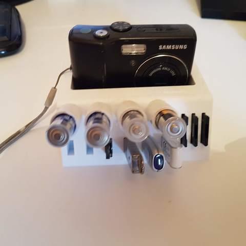 Télécharger fichier STL gratuit Vide poche support USB-SD card- stylo pour bureau • Objet imprimable en 3D, C1-concept