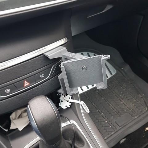 20180113_091936.jpg Download STL file Peugeot 308 smartphone support • 3D printer design, C1-concept