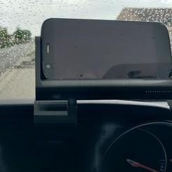Download STL file Adjustable horizontal smartphone holder for peugeot 208-308 • 3D printing model, C1-concept