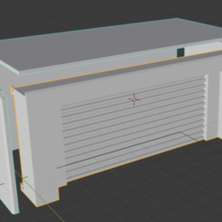 Download free STL file Garage storage unit building for wargaming terrain • 3D printing design, imonsei