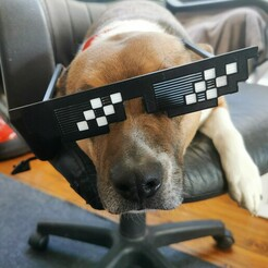 """1.jpg Download free STL file """"Like a boss"""" glasses. • Design to 3D print, Luckyco"""