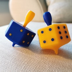 Download free 3D printer templates Spinning Dice, Luckyco