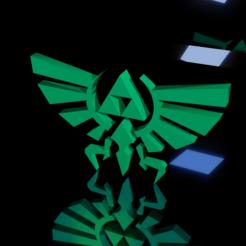 3d model Triforce NO COLOR for Printing Legend Of Zelda, Axsajim