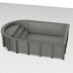 Download free 3D printing models Playmobil swimming pool, stephane49