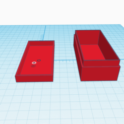 Download free STL file box for battleship counters • 3D printing design, stephane49
