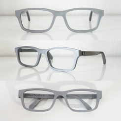 Download free 3D printer designs VirtualTryOn.fr Eyeglass frame (flat), VirtualTryOn_fr