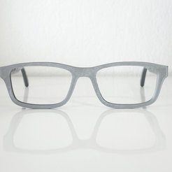 Free stl VirtualTryOn.fr Eyeglass frame (flat), VirtualTryOn_fr