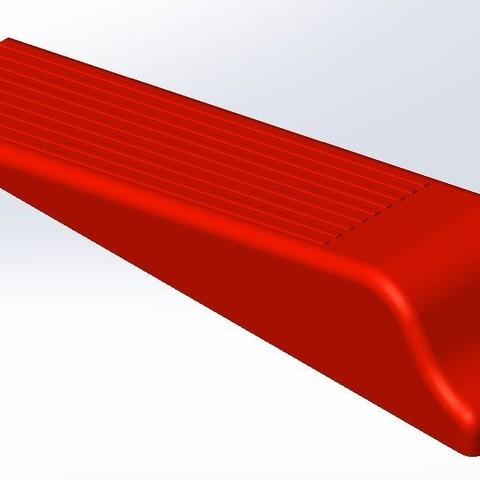 Download free STL file DOOR WEDGE • Model to 3D print, paucam
