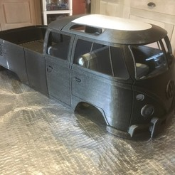 Download 3D print files VW T1 pickup for rc crawler ,scx10, traxxas, PascalCrawlers