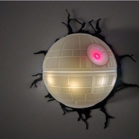 fichier imprimante 3d gratuit lampe deathstar cults. Black Bedroom Furniture Sets. Home Design Ideas
