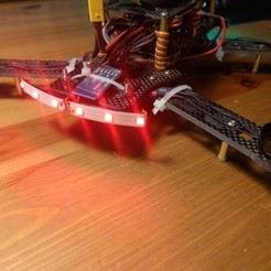 Download free 3D print files Z250 drone led strip holder, mashirito