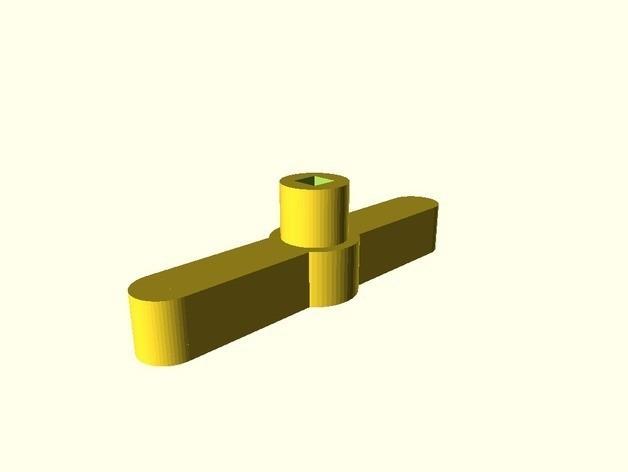 98ebb0dddbe90fbc5330bd4b8c531760_preview_featured.jpg Download free STL file Customizable adapter tool handle • 3D print design, mashirito