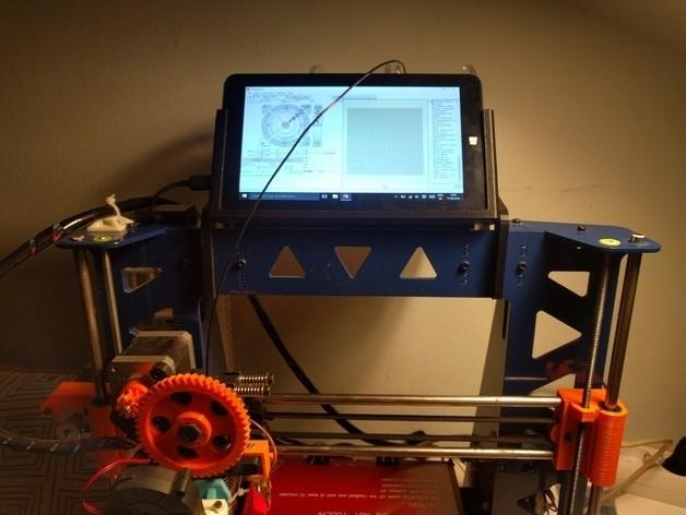 "c65cf6348f6c7c781e1e06aec91375cd_preview_featured.jpg Download free STL file 7"" tablet holder for i3-steel control • 3D printer model, mashirito"