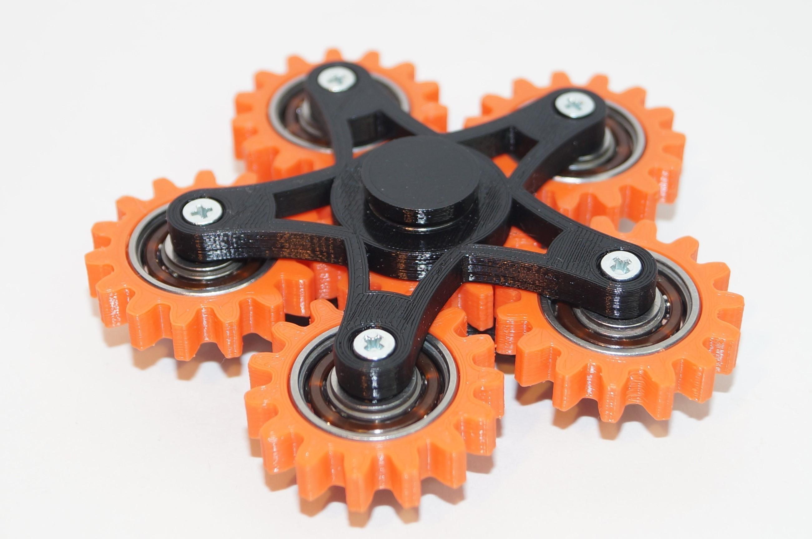 DSC06490.JPG Download free STL file New hand spinner six gears • Template to 3D print, Vladimir310873