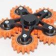 Free 3d printer model New hand spinner six gears, Vladimir310873